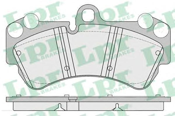 Колодки тормозные LPR 05P1226 Porshe Cayenne/VW Touareg 02-