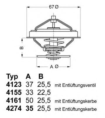 Термостат (с прокладкой) FORD: GALAXY 95- \ MERCEDES-BENZ: V-CLASS 96-03 \ SEAT: ALHAMBRA 96-, LEON 99-, TOLEDO 99-06 \ VW: BORA 98-05, GOLF III 91-97, GOL