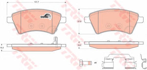 Колодки тормозные SUZUKI SX4 06- (Венгерская сборка) передние