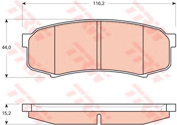 Колодки тормозные TOYOTA LC 80/90/120 90>/MITSUBISHI PAJERO 3.8/3.2D 06> задние