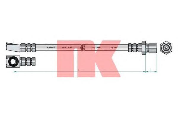 Шланг тормозной передний / OPEL Kadett-E (R),Ascona-C (L/R) 81~