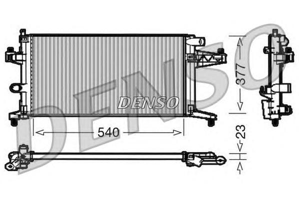 Радиатор системы охлаждения OPEL: COMBO Tour 1.4 01 - , COMBO фургон/универсал 1.4 16V 01 - , CORSA