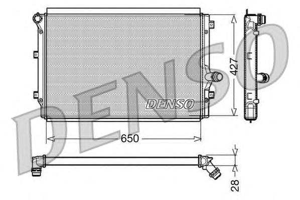 Радиатор системы охлаждения AUDI: A3 (8P1) 2.0 TDI/2.0 TDI 16V/2.0 TDI 16V quattro/2.0 TDI quattro 0