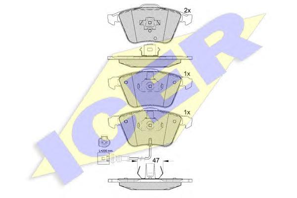 Колодки тормозные ICER 181653 VW Passat 05- =GDB1616