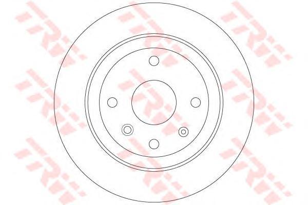 Диск тормозной задний CHEVROLET EPICA DF6360