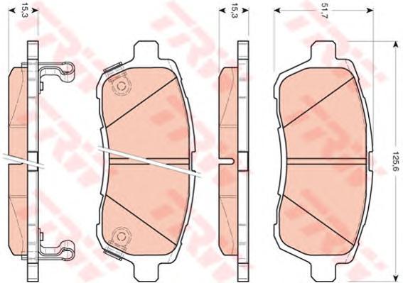 Колодки передние FORD FIESTA VI, MAZDA 2 (DE), SUZUKI SWIFT IV GDB3437