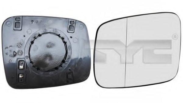 Стекло зеркала лев с подогр, асферич,, электр VW: TRANSPORTER T4 - 90-03