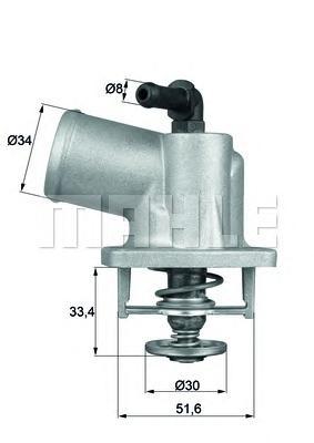 Термостат OPEL: ASTRA G 98-09, ZAFIRA A 99-05