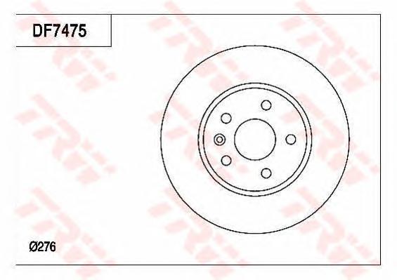 Диск тормозной передний CHEVROLET AVEO (T300), CRUZE (J300), OPEL ASTRA J DF7475