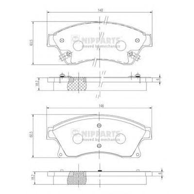 Комплект тормозных колодок N3600914