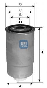 Фильтр топливный, дизель
