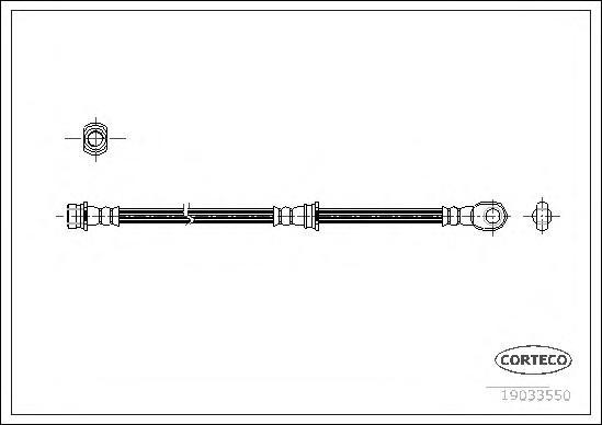 Шланг тормозной MITSUBISHI: PAJERO III Canvas Top 3.2 DI-D/3.5 V6 GDI 00-06