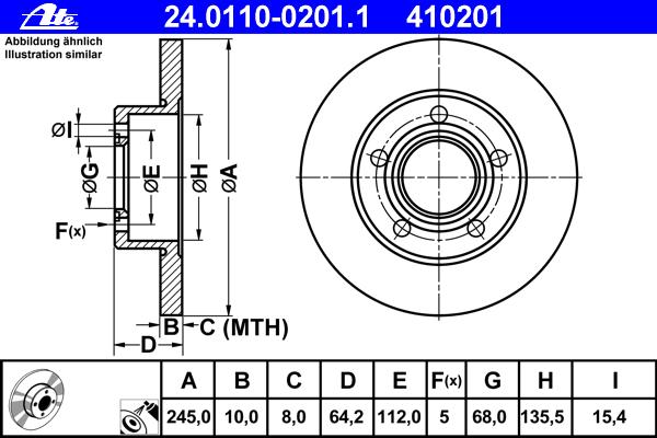 Диск тормозной задн, AUDI: 100 2.0/2.0 E/2.0 E 16V/2.0 E 16V quattro/2.0 E quattro/2.3 E/2.3 E quattro/2.4 D/2.5 TDI/2.6/2.6 quattro/2.8 E/2.8 E quattro 90-94, 100