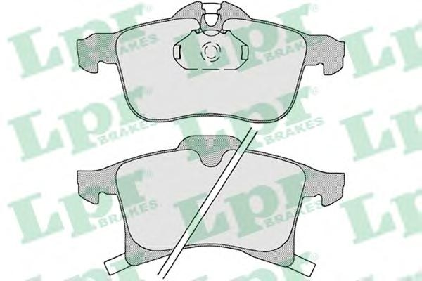 Комплект тормозных колодок 05P1197