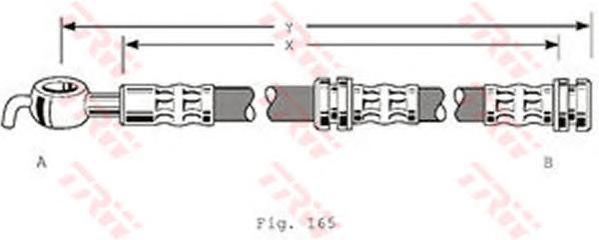 Шланг тормозной задний MITSUBISHI CARISMA, VOLVO S40 (-ABS) PHD347