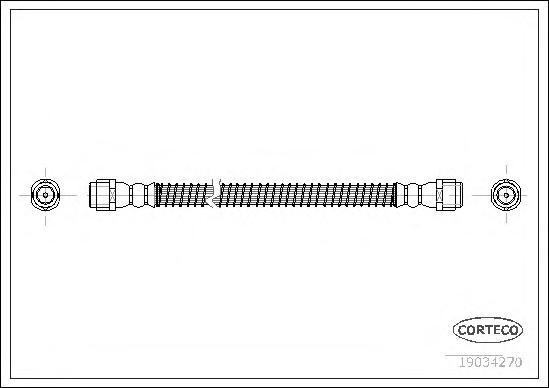 Шланг тормозной Re VAG Q7, Touareg 422mm