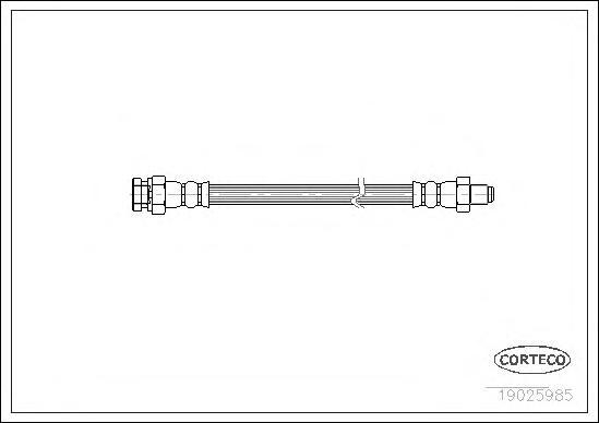 Шланг тормозной 185mm MI L200,300