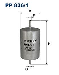Фильтр топливный PP836/1
