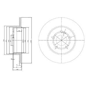 Диск тормозной передний SKODA FABIA I-II, OCTAVIA (1U), VW GOLF IV (256мм) BG3208