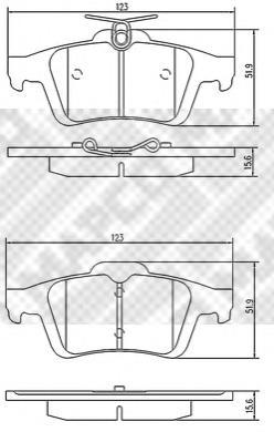 К-т колодок Re FO Focus II,III (RUS), Opel,Volvo