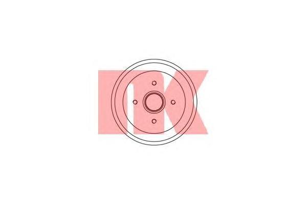 Барабан тормозной / FORD Fiesta V,Fusion (203x44,5) 01~