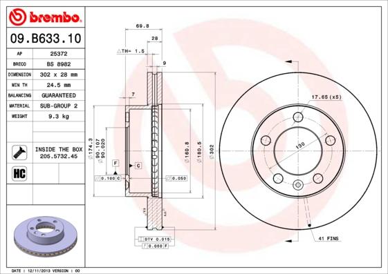 Диск торм. Fr NI NV400, OP Movano, RE Master 10-