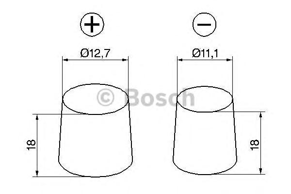 Аккумулятор BOSCH S4 SILVER 12V 40AH 330A ETN 0(R+) B01 187x127x207mm 10.1kg, тонкие клеммы