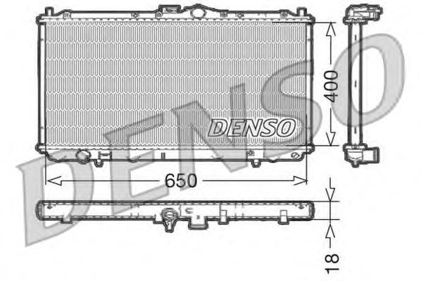 Радиатор охлаждения с МКПП MITSUBISHI CARISMA 1 6I 06/95-03/04