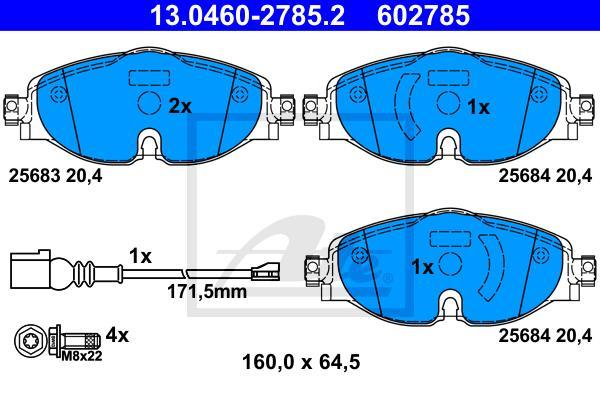 Колодки тормозные дисковые передн, AUDI: A3 12-\ \SEAT: LEON 12-\ SKODA: OCTAVIA 12-, SUPERB 15\VW: GOLF 13-, PASSAT 14-, TOURAN 15-