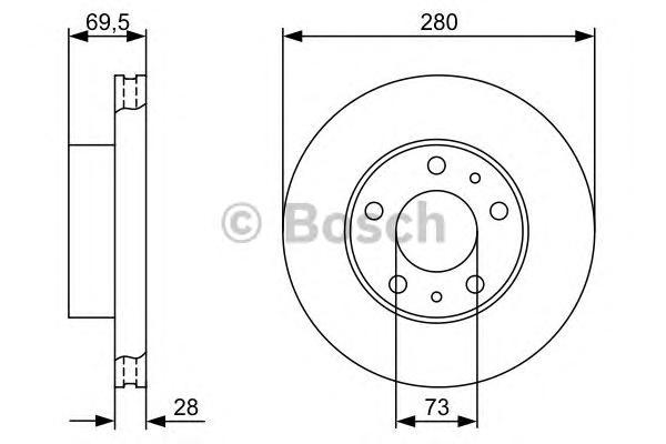 Тормозной диск передний 0986479313