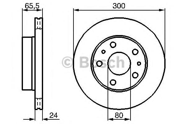 Диск тормозной CITROEN JUMPER/FIAT DUCATO/PEUGEOT BOXER 94-передний вент.D=300мм