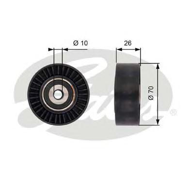 Обводной ролик привода вспомогательных агрегатов