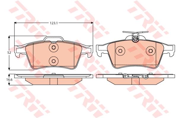 Колодки тормозные TRW GDB2086 FORD FOCUS III задн 1805813