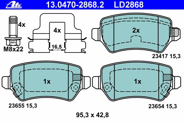 Колодки тормозные дисковые задн, CERAMIC, KIA: VENGA 1.4 CRDi 75/1.4 CRDi 90/1.4 CVVT/1.6 CRDi 115/1.6 CRDi 128/1.6 CVVT 10- \ OPEL: ASTRA G Наклонная задняя часть 1.2 16V/1.4 1
