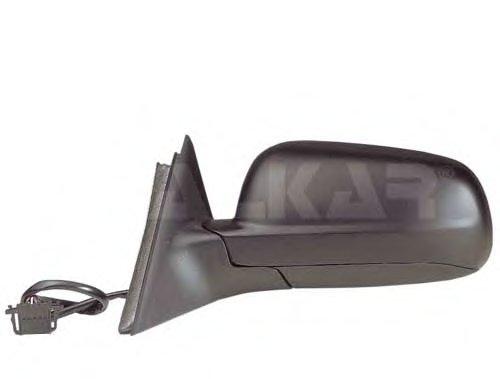 Зеркало наружное в сборе лев, электр, с подогр, асферич, грунт (больш корп зеркала) VW: PASSAT (B5) - 98-03