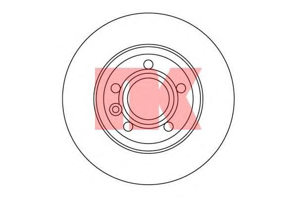 Диск тормозной задний / VW Transporter T-4 2.0/1.9TD,2.5+TD/2.8 VR6 (12.0-280) 96~