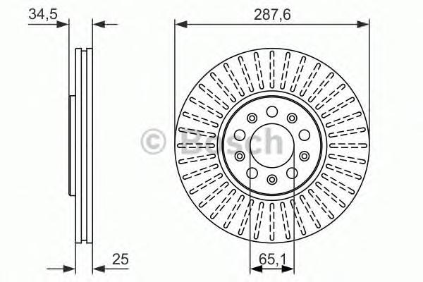 Диск тормозной AUDI A3/VOLKSWAGEN G4/SKODA FABIA передний вент.