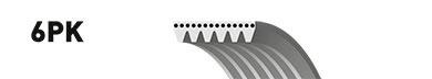 Ремень ручейковый GATES 6PK1488