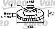 Тормозной диск (1 шт) FORD FOCUS (2004-) 2.0TDCI, 2.0I,FOCUS C-MAX (03-07) 1.6TDCI, 1.6I, 1.8TDCI,