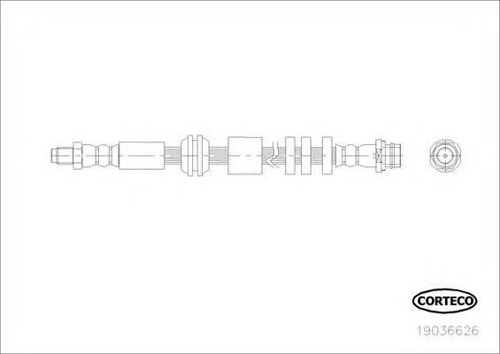 Шланг тормозной передн Land Rover: Freelander II. 2.2 TD4, 3.2 i 10.06-