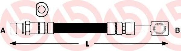 Шланг тормозной CHEVROLET LANOS/OPEL CORSA B передний