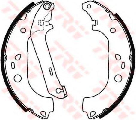 Колодки тормозные Ford Transit/Toureno 1,8I/1,8TDDI 2002-> задние барабанные