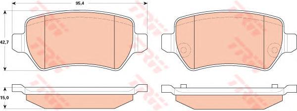 Колодки задние OPEL ZAFIRA B GDB1831