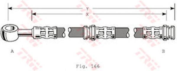 Шланг тормозной передний MITSUBISHI CARISMA, VOLVO S40 I PHD346