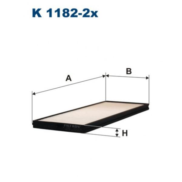 Фильтр салона K1182-2x