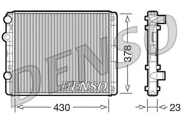 Радиатор системы охлаждения SEAT: AROSA (6H) 1.0/1.4/1.7 SDI 97 - 04 , CORDOBA Vario (6K5) 1.6 i 96