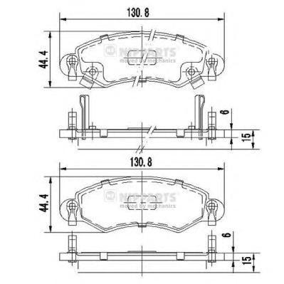Колодки тормозные NIPPARTS J3608025 SUZUKI WAGON R+