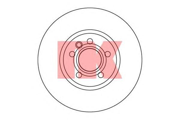 Диск тормозной передний / Ford Galaxy, Seat Alhambra, VW Sharan, T4 99~