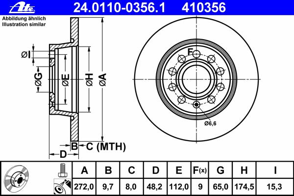 Диск тормозной задн, AUDI: A1 1.2 TFSI/1.4 TFSI/1.6 TDI/2.0 TDI/2.0 TFSI quattro 10-, A1 Sportback 1.2 TFSI/1.4 TFSI/1.6 TDI/2.0 TDI 11-, A3 1.2 TSI/1.4 TFSI/1.6/1