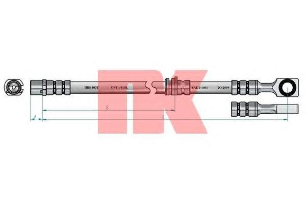 Шланг тормозной передний / OPEL Astra-G, Zafira 98~